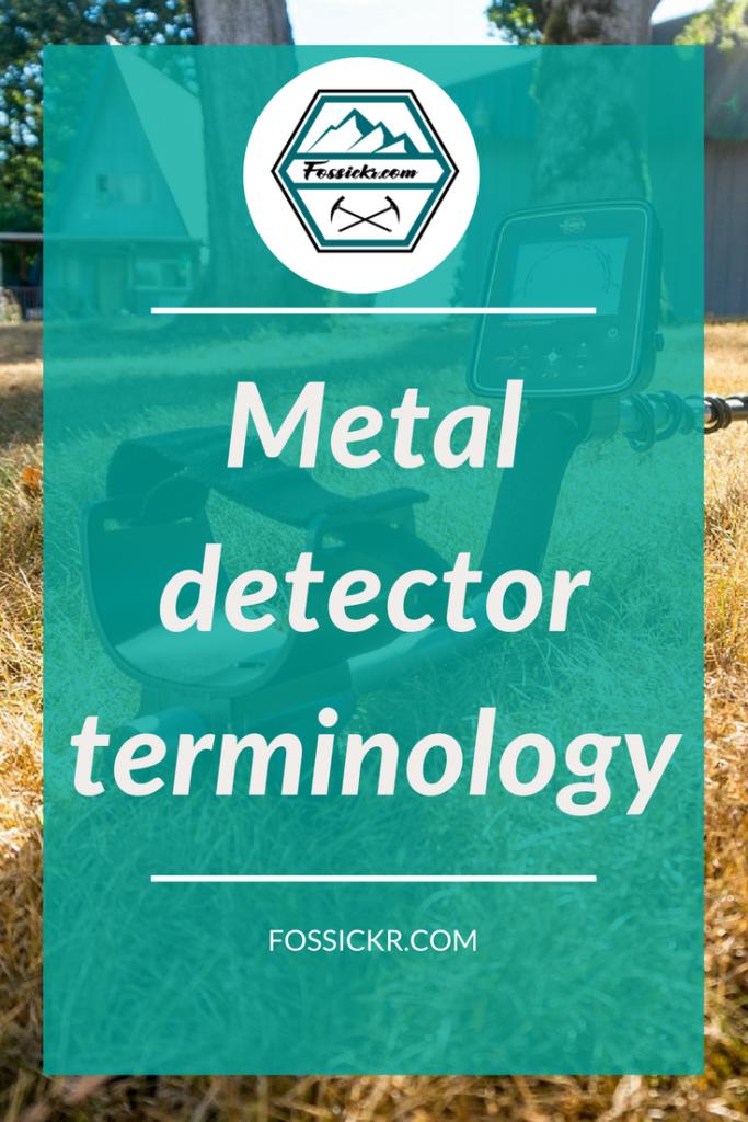 Metal detector terminology