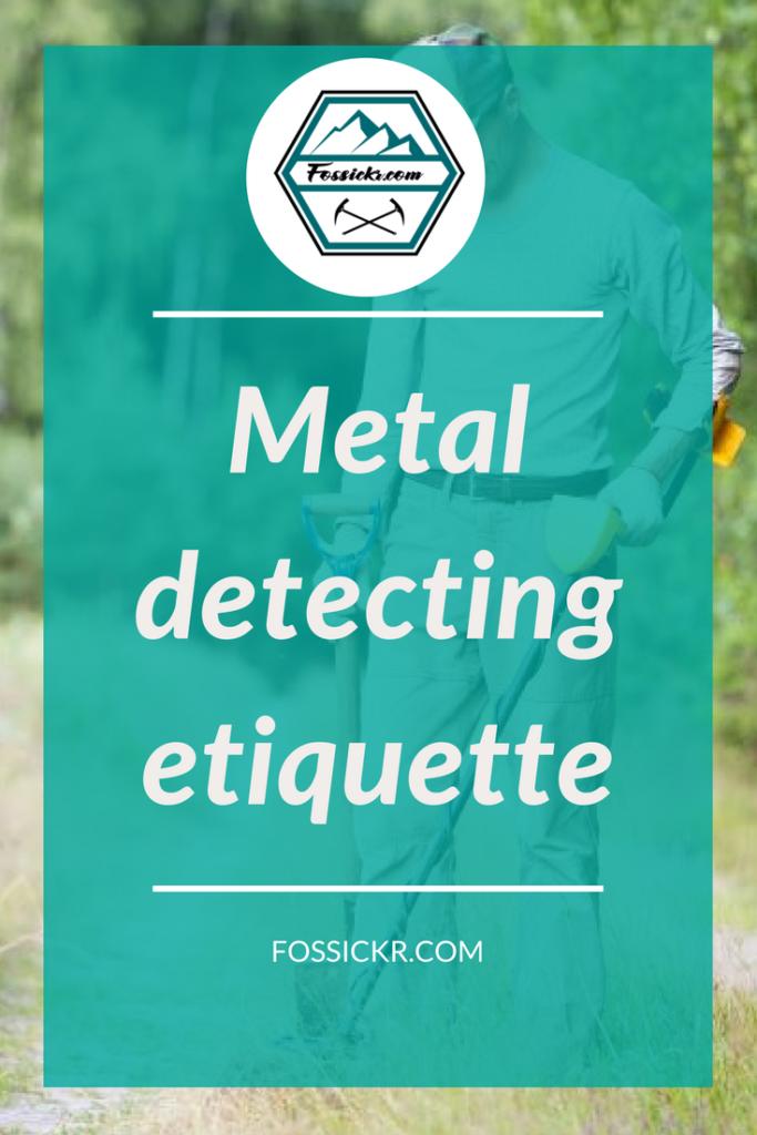 Metal detecting etiquette