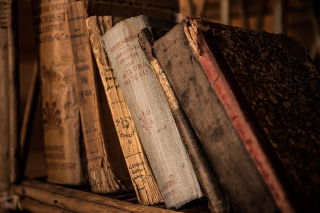Dusty old books