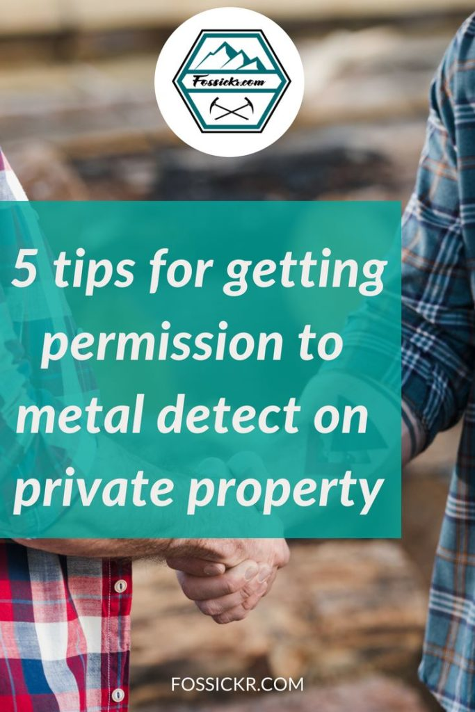 Getting permission to metal detect on private property